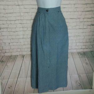 [VINTAGE] PIA RUCCI long denim pencil maxi skirt